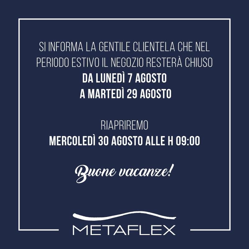 metaflex chiusura