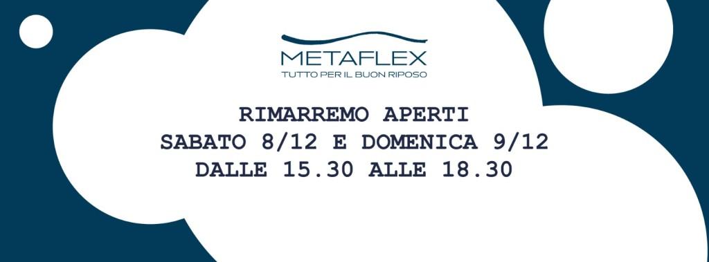 Apertura 8 e 9 Dicembre Metaflex