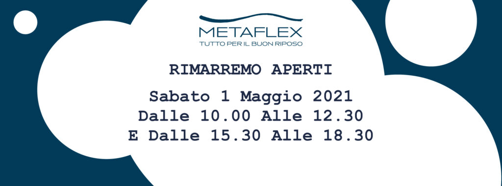 Apertura 1 Maggio 2021